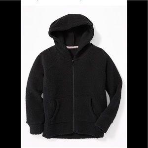 Teddy bear Sherpa fleece zip up hoodie